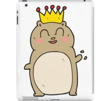 cartoon waving hamster iPad Case/Skin