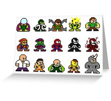 8-bit Spider-Man & Foes Greeting Card