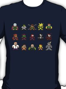 8-bit Spider-Man & Foes T-Shirt