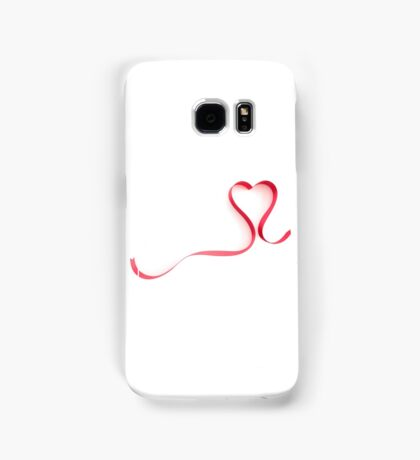 Red Ribbon Heart Shape Samsung Galaxy Case/Skin
