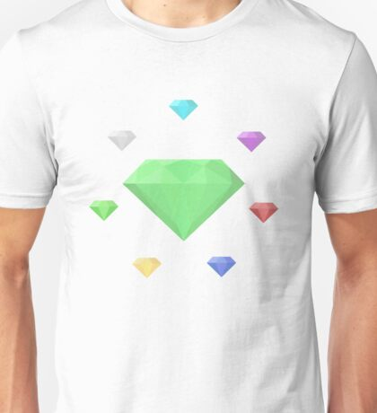 Chaos Emeralds (white) Unisex T-Shirt