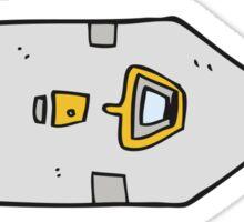 cartoon landing craft Sticker