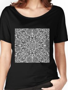 Black and White Vector Women's Relaxed Fit T-Shirt