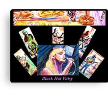 Black Hat Patsy Canvas Print