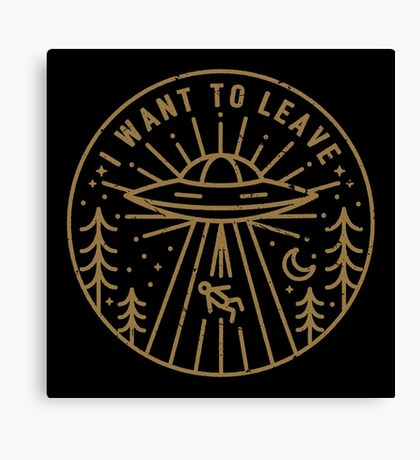 I Want To Leave - Pocket Canvas Print