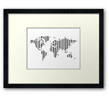 Map stroke a code Framed Print