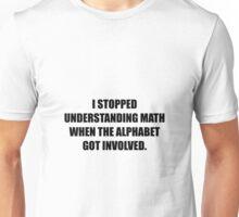 Understand Math Alphabet Unisex T-Shirt