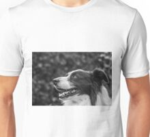 expression of a border collie Unisex T-Shirt