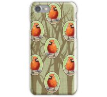Cottage Cardinals iPhone Case/Skin