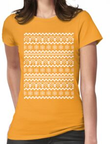 PATTERN SNOWFLAKES (white) Womens Fitted T-Shirt