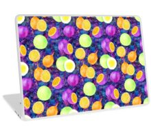 Bright watercolor tropical fruit pattern, passion fruit on the galaxy background Laptop Skin