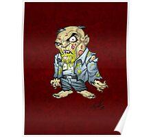 Cartoon Zombie Business Man Art by Al Rio Poster