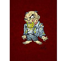 Cartoon Zombie Business Man Art by Al Rio Photographic Print