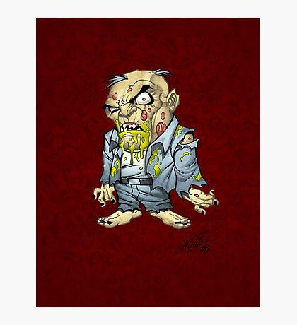 Cartoon Zombie Business Man Art by Al Rio Photographic Print