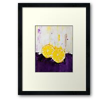 Lemon Scented Fruit Framed Print