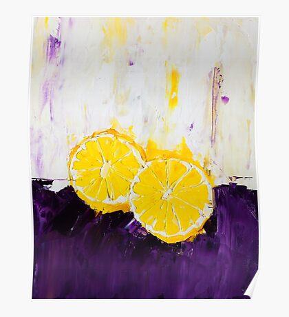 Lemon Scented Fruit Poster