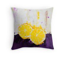 Lemon Scented Fruit Throw Pillow