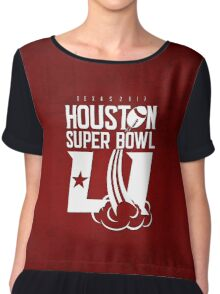 Super Bowl LI 2017 rocket ball Chiffon Top