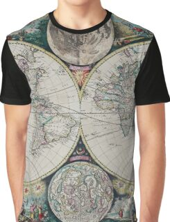 Atlas Maritimus - Vintage World Map Graphic T-Shirt