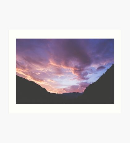 Yankee Jim Canyon Clouds Art Print