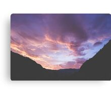 Yankee Jim Canyon Clouds Canvas Print