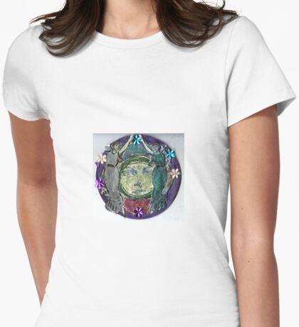 Moon Dancers Womens Fitted T-Shirt