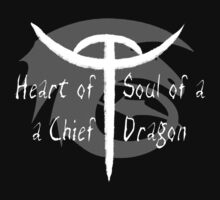 Heart of a Chief, Soul of a Dragon - Black and White by sugarpoultry