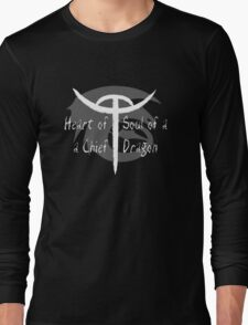 Heart of a Chief, Soul of a Dragon - Black and White Long Sleeve T-Shirt