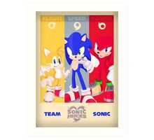 Team Sonic - Sonic the Hedgehog Art Print