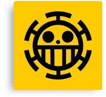 The Heart Pirates Flag | Trafalgar D Law Canvas Print