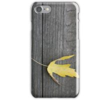 Yellow Leaf iPhone Case/Skin