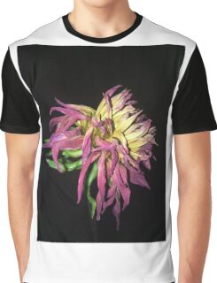 Pink and yellow flower Graphic T-Shirt