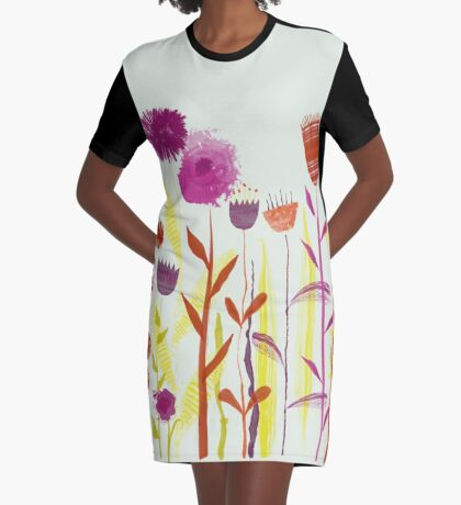 Mixed up Meadow Graphic T-Shirt Dress