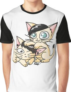 Youtuber Kittens: Dan and Phil Graphic T-Shirt