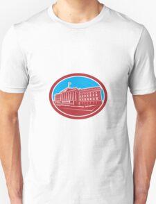 The Treasury Building Washington DC Woodcut Retro Unisex T-Shirt