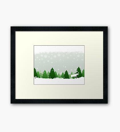 Winter wood Framed Print