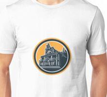 Manila Cathedral Woodcut Retro Unisex T-Shirt
