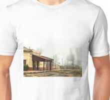 Foggy Morning at the Station Unisex T-Shirt