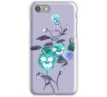 Pansy Decal Lavender Turquoise iPhone Case/Skin