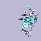 Pansy Decal Lavender Turquoise by ThistleandFox