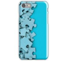 Blank jigsaw peices iPhone Case/Skin