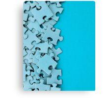 Blank jigsaw peices Canvas Print