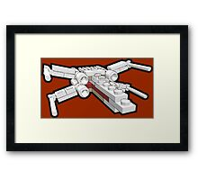 X-wing in bricks Framed Print