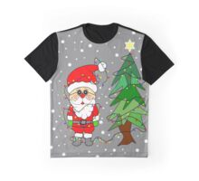 Playful Santa Graphic T-Shirt