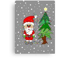 Playful Santa Canvas Print