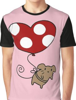 Heart Balloon Mouse Graphic T-Shirt