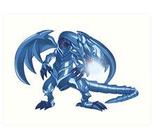 Blue-Eyes White Dragon Art Print