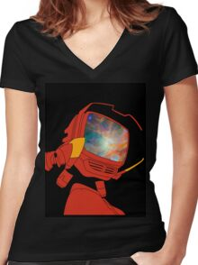 Psychedelic Canti Women's Fitted V-Neck T-Shirt