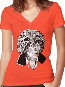 4th Doctor  Women's Fitted V-Neck T-Shirt