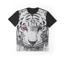 WHITE TIGER RED EYES Graphic T-Shirt